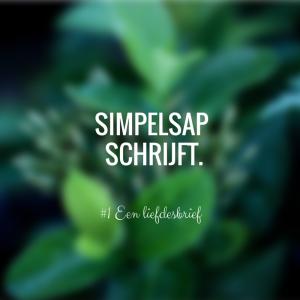 Simpelsap Schrijft (2)