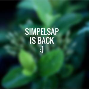 Simpelsap is back